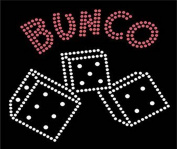 Bunco Crystal Dice Iron on Applique