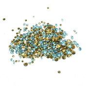 Nizi Jewellery ss6-ss38 And Mixed Sizes Pointback Resin Rhinestones Beads For Phone Nail Art DIY Decoration Many Sizes Aquamarine ss28 6mm
