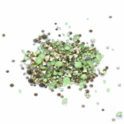 Nizi Jewellery ss6-ss38 And Mixed Sizes Pointback Resin Rhinestones Beads For Phone Nail Art DIY Decoration Many Sizes Green Opal ss14 3.5mm