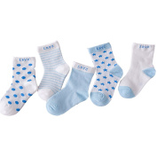 CHIC-CHIC 5 Pairs Cute Toddler Newborn Baby Socks Lovely Soft Elastic Ankle Socks for Baby Girls Boys