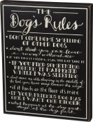 Primitives by Kathy The Dog's Rules Box Sign