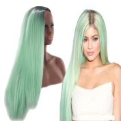 OYSRONG Fashion 2 Tones Ombre Colour Long Straight Cosplay Costume Wigs For Women