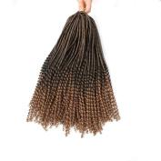 46cm 3Pcs Ombre Faux Locs Curly Braids 24 Strands/Pcs Afro Dread Dreadlocks for Girls