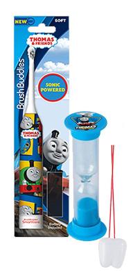 """Thomas & Friends"" Inspired 2pc Bright Smile Oral Hygiene Set! Thomas Turbo Powered Spin Toothbrush & Brushing Timer! Plus Bonus ""Remember To Brush"" Visual Aid!"