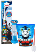 """Thomas the Train"" Inspired 3pc Bright Smile Oral Hygiene Set! Thomas & Friends Turbo Powered Spin Toothbrush, Brushing Timer & Mouthwash Rinse Cup! Plus Bonus ""Remember To Brush"" Visual Aid!"