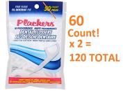 Plackers Hi Performance Fine Flossers 60 x 2 Bags = 120 Total