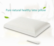Soft Natural Latex Pillow with Breathable Latex Core Convoluted Ergonomic with Removable Zippered Cover Neck Support Elderly Gift