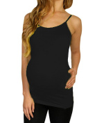 Shop Pretty Girl Women's Maternity Basic Seamless Tank-Top