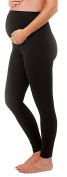 Touch Me Women's Solid Stretch Maternity Leggings
