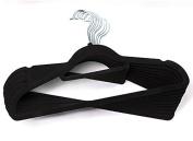 50X Quality Non Slip Flocked Velvet Hanger Coat Clothes Trouser Hanging Hangers