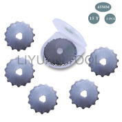 5PCS SKS-7 Crochet Edge 45MM 15 skip cutting edges Rotary Perforating Blade for Crochet Edge Projects