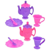 Fashion Dolls Set Doll House Kitchen Plastic Toy Tea Sets, 28 pc. Bundle of 2