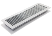 Accord ABFRWH414 Floor Register with Louvred Design, 10cm x 36cm (Duct Opening Measurements), White