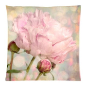 The New Arrive 2015 Nature Peony Flower Bud Pink Shabby Chic Pillow Cases - 18x18