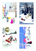 Museums & Galleries (MUT38) Tent Boxed Christmas Cards, Vintage Christmas