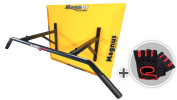 MAGNUS® POWER MP1032 - ORIGINAL - Pull-Up Bar (WALL Mounted) 2 Grips +Gloves + Hook for Suspension Trainer / Punch BAG