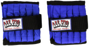 All Pro Unisex Adjustable Ankle Weights (1 Pair), Blue, 2.3kg