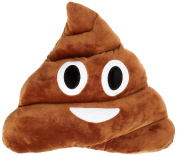 Emoji Poop Pillow 30CM, Dark Brown Emoticon Pillows, Thick Plush Large Cushion, Kids Favourite Pillow