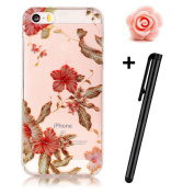 iPhone SE Case,iPhone 5 5S Glitter Case,TOYYM Ultra Slim Soft Flexible TPU Silicone Clear Rubber Bumper Back Protective Case Cover Bling Creative Pattern Design [Anti-Scratch & Shockproof] Crystal Transparent Gel Back Shell Case for Apple iPhone SE/5/5 ..