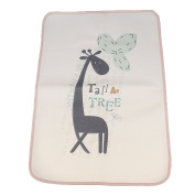 Sharplace Baby Waterproof Reusable Portable Changing Mat Pad for Home and Travel - Giraffe, 30X45cm