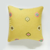 Simple embroidered cushion, office back, sofa cushion, bed back,Huanglingxing