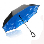 Inverted Umbrella, Elover Double Layer Reverse Umbrella for Car Rain Outdoor