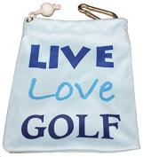 Giggle Golf - Microfiber Live Love Golf Tee Bag