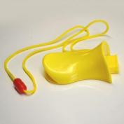 Yellow Duck Whistle on Lanyard with Breakaway