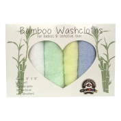 Gokidz Pro Baby Bath Bamboo Washcloths, Natural Organic Extra Soft Towels For Sensitive Skin, Absorbent Hypoallergenic Wipes