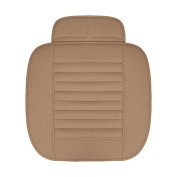 YRD TECH Breathable Leather Bamboo Car Seat Cover Pad Mat Auto Chair Cushion Universal