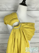 Bibetts Pure Linen Ring Sling 'Bamboo Yellow' Baby Carrier - CPSIA compliant - Infant, Toddler and Baby Carrier
