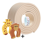 2M Baby Safety Thicken Corner Guards Door Slammer Guard Included 2pcs and Widened Bumper Strip Edge Corner Cushion Strip for Furniture Corner Edge Protection Baby Protective Products Keep Toddler Safe