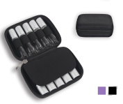 Essential Oil Carrying Case – Protect Your Precious Oils! Shock & Spill Proof Design - Holds 10 5ml, 10ml Roller Bottles – Organiser Perfect for Travel Storage - Black
