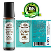 BEST Organic Green Coffee Bean Oil by Carolina Soap Works, Cold Pressed, Unrefined, 100% Natural