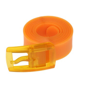 SMYTShop Unisex Men Womens Smooth Silicone Rubber PU Leather Belt Plastic Buckle 5 Colours