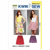 Kwik Sew Ladies & Girls Easy Learn to Sew Sewing Pattern 3794 Skirts