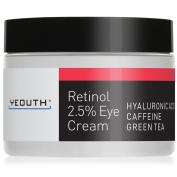 Eye Cream Moisturiser for Face from YEOUTH Boosted w/ Retinol, Hyaluronic Acid, Caffeine, Green Tea, Anti Wrinkle, Anti Ageing, Firm Skin, Even Skin Tone, Moisturise and Hydrate - Guaranteed