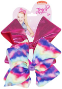JoJo Bows Signature Collection Large Hair Bows Tiedye Rainbow/Hot pink