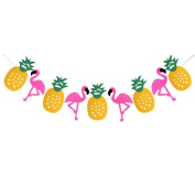 Lalang Tropical Party Decorations Banner Flamingo Pineapple BBQ Luau Hawaiian Summer Party Garland