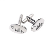 Demarkt Fashion Shirt Cufflinks Usher Letter Cufflinks Delicate Men's Jewellery For Wedding Gift