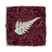 Fine Pewter New Zealand Fern Brooch, Handcast By William Sturt