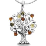Amber Tree of Life World Tree Pendant 925 Silver Amber Jewellery Tree – Tree of Life Locket # 1633