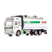 Tera Friction Powered Municipal Water Tank Truck Watering Transport Vehicle Model Detachable Educational Toy for Kids Children