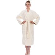 IVORY CREAM skin colour Bathrobe UNISEX shawl collar LUXURY 100% COTTON Terry Towel Bathrobes, terry bath robe, 450 GSM cotton bathrobe