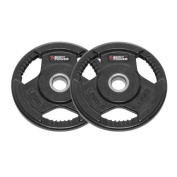 Body Power Rubber Enc Tri Grip STANDARD Weight Disc Plates - 1.25Kg