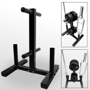 BodyRip 5.1cm Olympic Weight Barbell Disc Plate Rack Stand Holder Tree Gym Storage