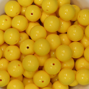 20mm Bulk package 50 YELLOW Solid Acrylic Chunky Bubblegum Beads Loose Gumball Beads Lot