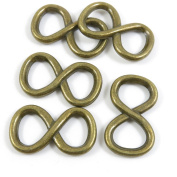 30 Pieces Pendant Pendentif Jewellery Making Supply Charms Findings Bronze Tone D2VP8 8 Shaped Infinity