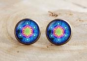 Metatron's Cube Earrings, Sacred geometry jewellery, Geometric Earrings, Sacred geometry necklace,Round Stud