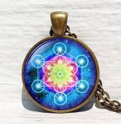 Metatron's Cube pendant, Sacred geometry jewellery, Geometric necklace, Sacred geometry necklace, Jewellery for men, necklace for men